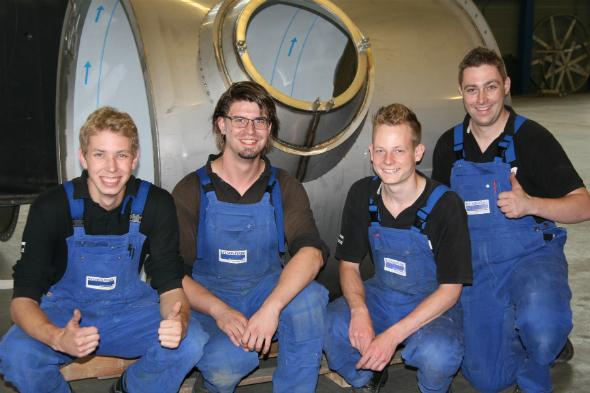 Vijf jonge, technische talenten behalen BBL-diploma