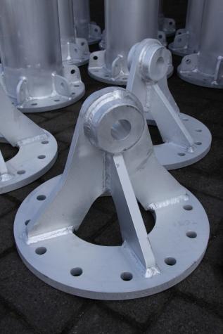 Hoogwaardig laswerk voor aluminium hijsconstructie